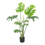 Monstera in pot, made of artificial silk & plastic H:...