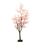Cherry blossom tree with wooden foot, made of artificial...
