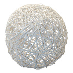 Willow spheres 2-parted, made of wickerwork Ø40cm Color:...