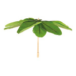 Umbrella foldable, made of artificial banana leaves...