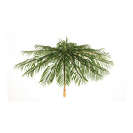 Umbrella foldable, made of artificial palm leaves Ø120cm...