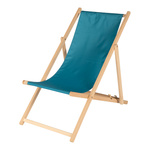 deck chair made of wood and polyester 138x56cm Color:...