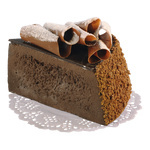 Cake slice chocolate cake, foam 7x10cm Color: brown
