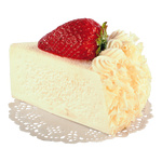 Cake slice cream cake, foam 7x10cm Color: white