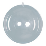 Ball plastic, 2 halves, to fill Ø 10cm Color: clear