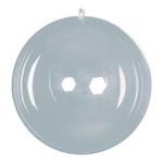 Ball plastic, 2 halves, to fill Ø 14cm Color: clear