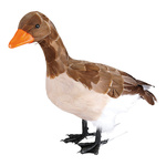 Goose, standing styrofoam with feathers 33x40cm Color: brown