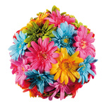 Gerbera ball styrofoam/artificial silk Ø 25cm Color:...