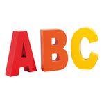 Letters ABC styrofoam 50x30cm Color: coloured