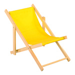 Deck chair wood, cotton 26x18cm Color: yellow