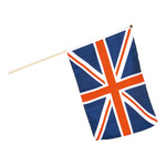 Flag on wooden pole artificial silk 30x45cm Color: UK