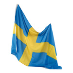 Flag artificial silk, with eyelets 90x150cm Color: Sweden