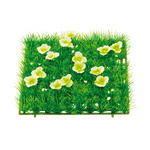 Grass tile »Buttercups« PVC, artificial silk 25x25cm...