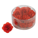 Rose blossom heads 20pcs./blister, artificial silk 4.5cm...