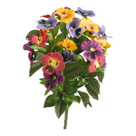 Bunch of pansies 12-fold, artificial silk 25x45cm Color:...