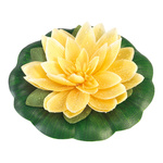 Water lily with leaf artificial silk blossom Ø 20cm, Ø...