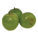 Apple 3pcs./bag, plastic Ø 8cm Color: green