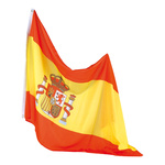Flag artificial silk, with eyelets 90x150cm Color: Spain