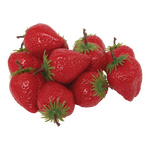 Strawberry 12pcs./bag, plastic Ø 5cm Color: red/green