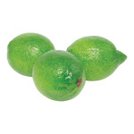 Lime 3pcs./bag, plastic 6x8cm Color: green