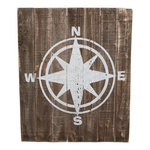 Panel with compass wood 50x60cm Color: brown/white