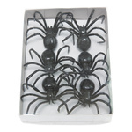 Spider 6pcs./blister, styrofoam covered with paper 8x7cm...