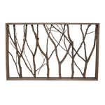 Frame with twigs wood 57x37cm Color: brown