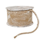 Spool with cord cardboard/rope Ø23x14cm Color: natural...
